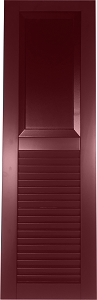 USA Exterior Wood Composite Combo Raised Panel Top/Faux Louver Bottom